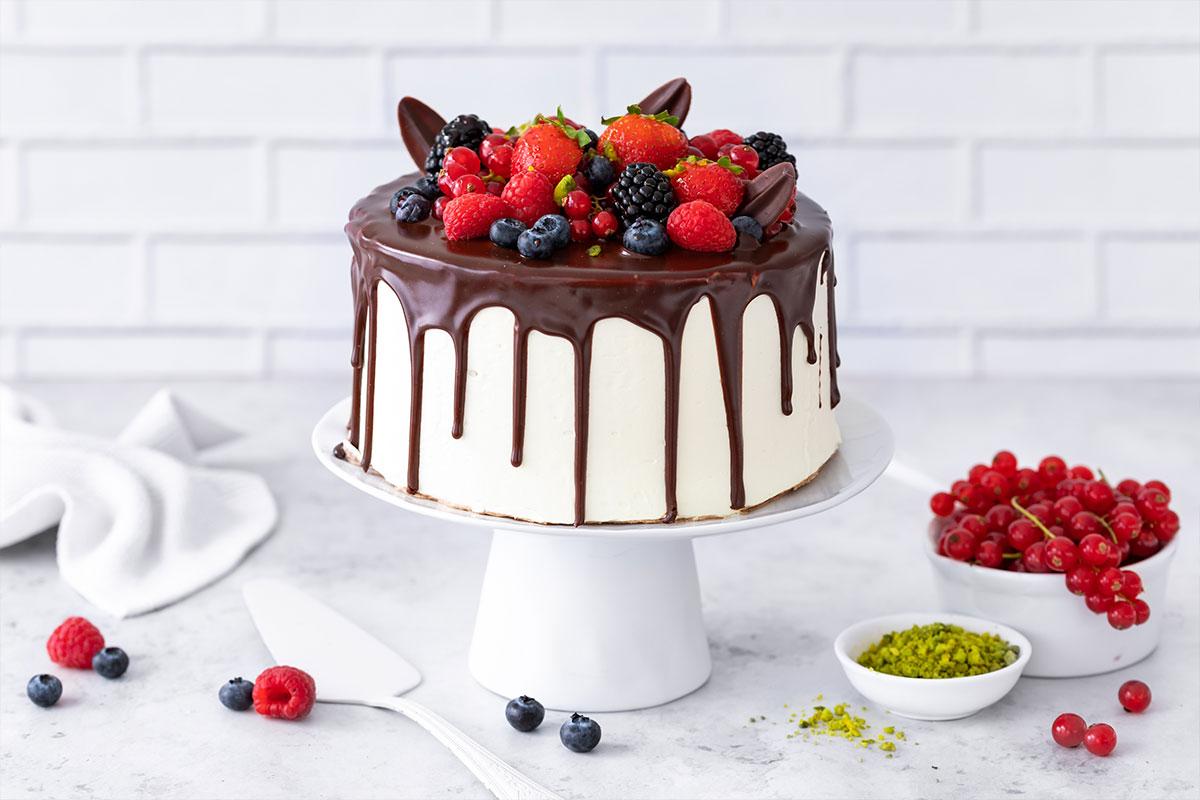 Schoko-Waldfrucht Torte