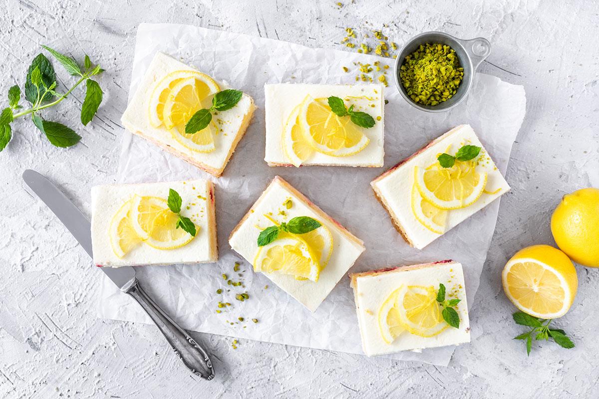 Zitronensahne Schnitte